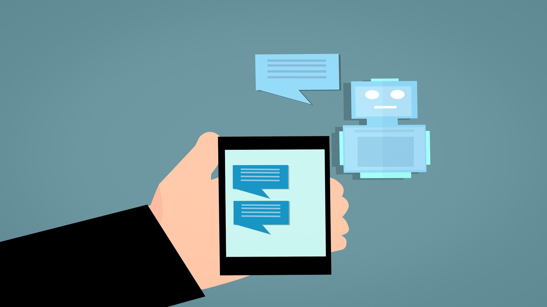 Chatbots can automatically chat whit people.
