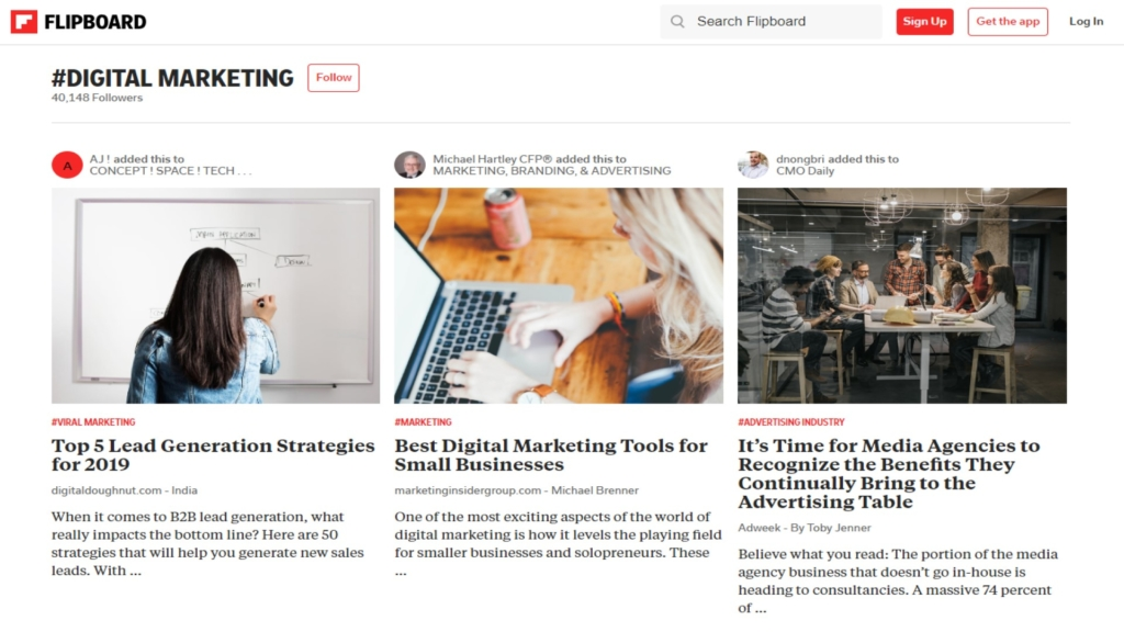 inspiration for your digital marketing on flipboard.